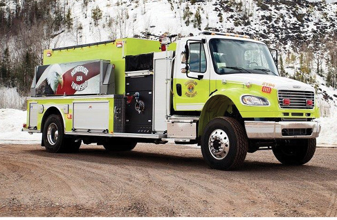 The Humboldt Township (MI) Fire Department specified four-wheel-drive for its MIDWEST pumper/tanker because the department averages 120 inches of snow yearly, says Deputy Chief Dillon Vial. The department is in Michigan's upper peninsula, with mostly rural terrain and very few hydrants. The large water tank is used for a strong initial attack while awaiting shuttle apparatus.