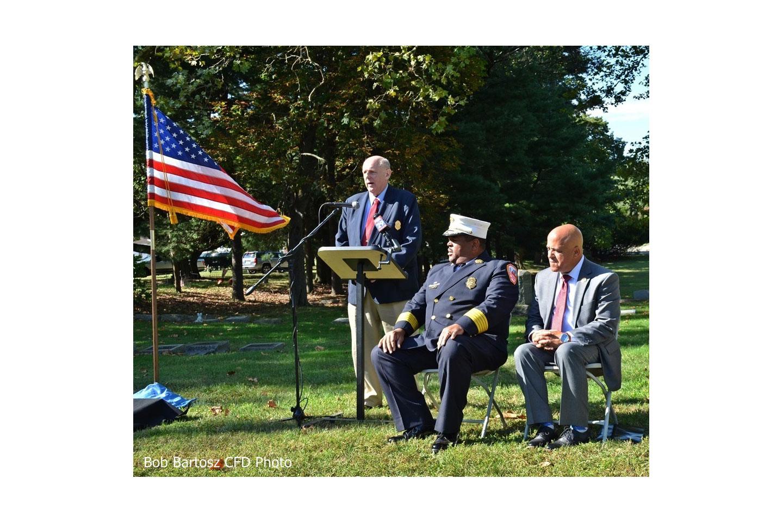 Camden City (NJ) Fire Department members pay tribute to their fallen brethren.