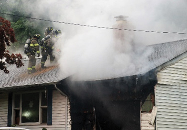 If the vent hole does not have a direct pathway to the fire, it will not be effective in aiding the extinguishment effort. (Photo by Michael Carenza Jr.)