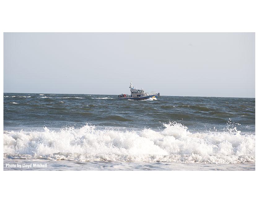 Rescue boat in the Atlantic.
