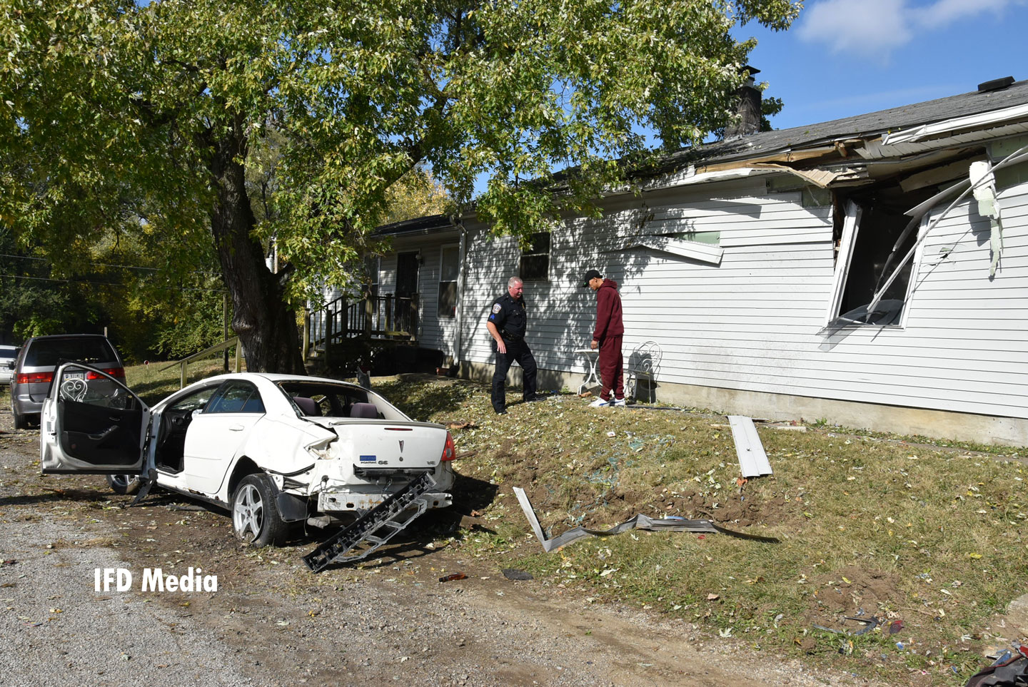 Damage to the car and dwelling