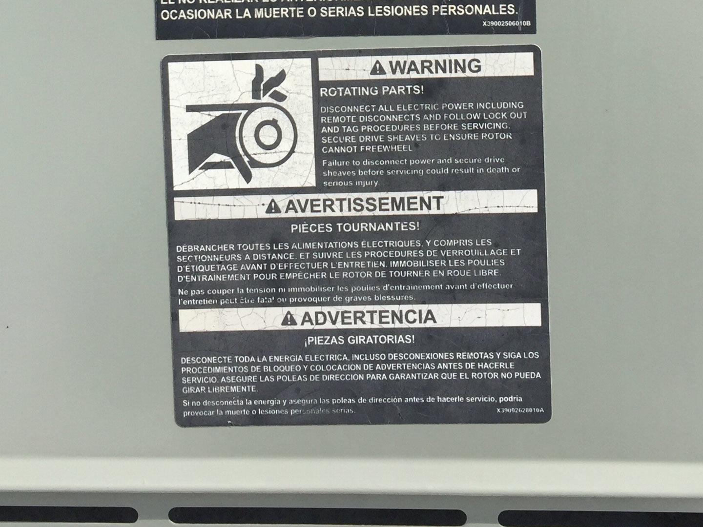 Warning picture on HVAC RTU