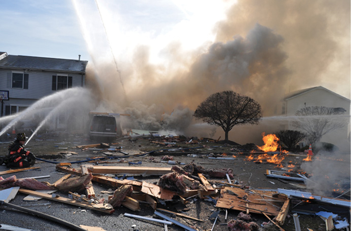 In 2012, an underground gas leak migrated into a nearby home and subsequently exploded, nearly killing the author and another West Haverstraw (NY) firefighter.