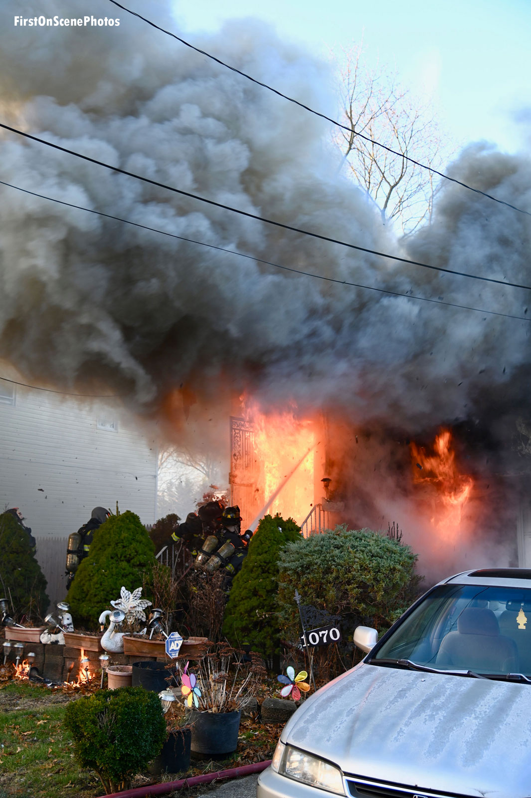 Another view of the flames.