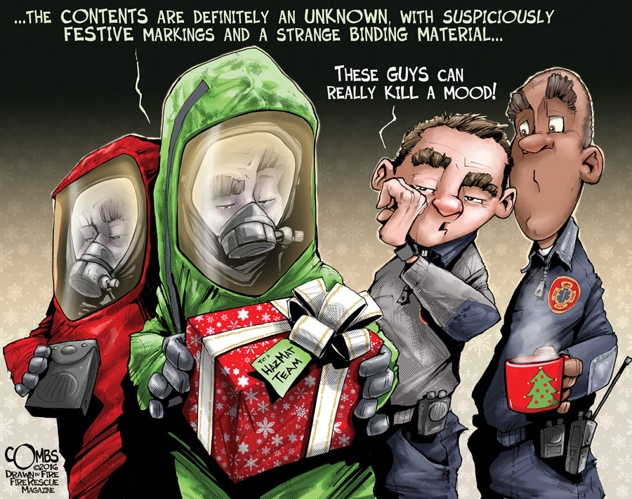 Hazmat and Christmas gifts by Paul Combs