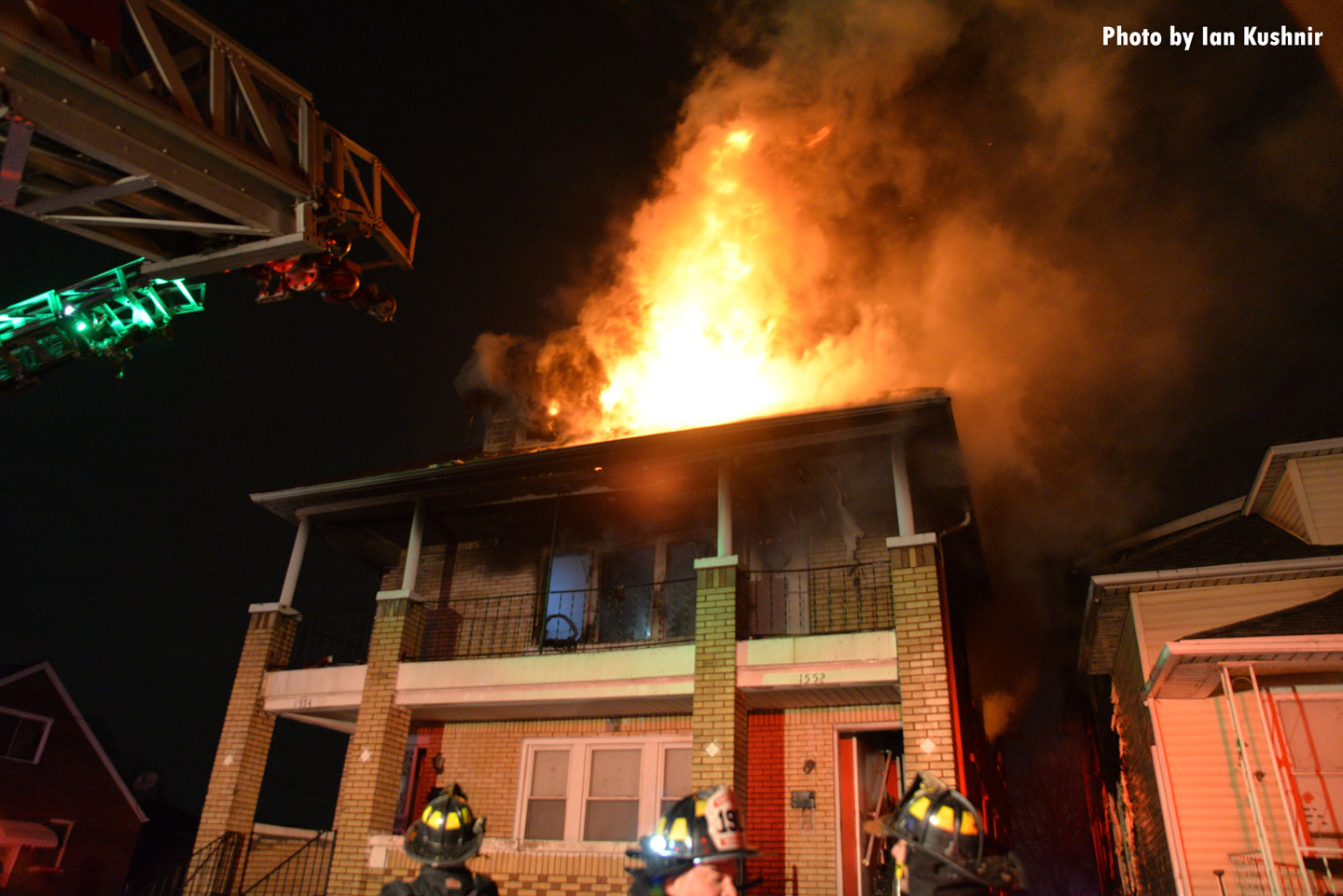 Firefighters responded to a fire in a multi-family dwelling in Dearborn, Michigan.