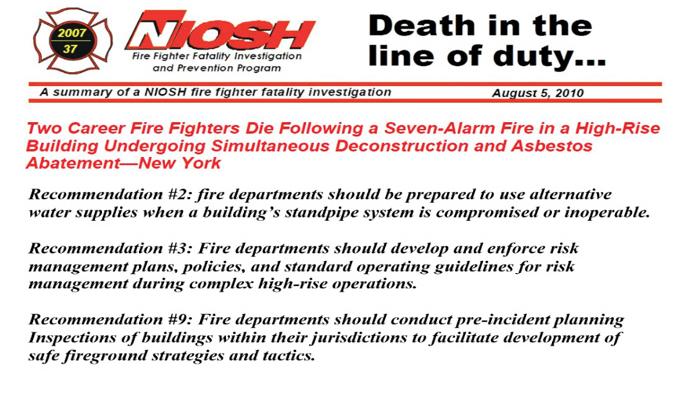 Figure 1. NIOSH Report 37, 2007: Excerpts