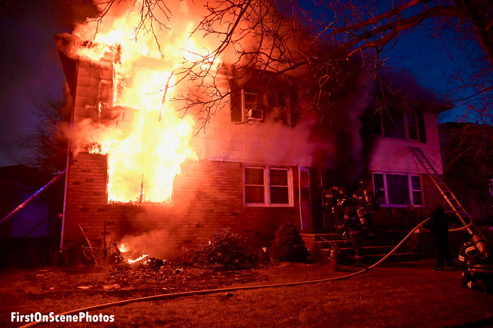 Crews encountered heavy fire on multiple floors