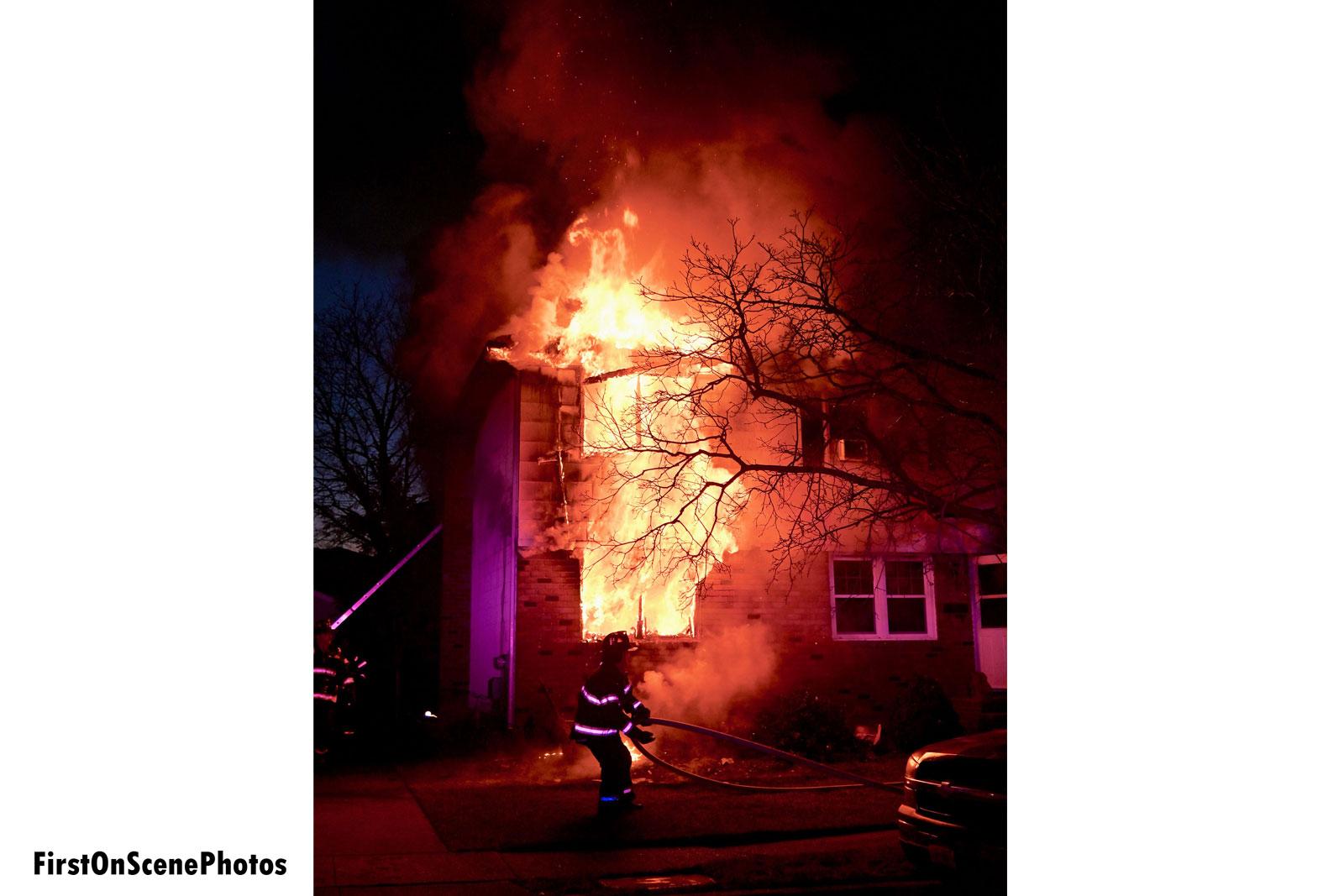 Fire tears through the building