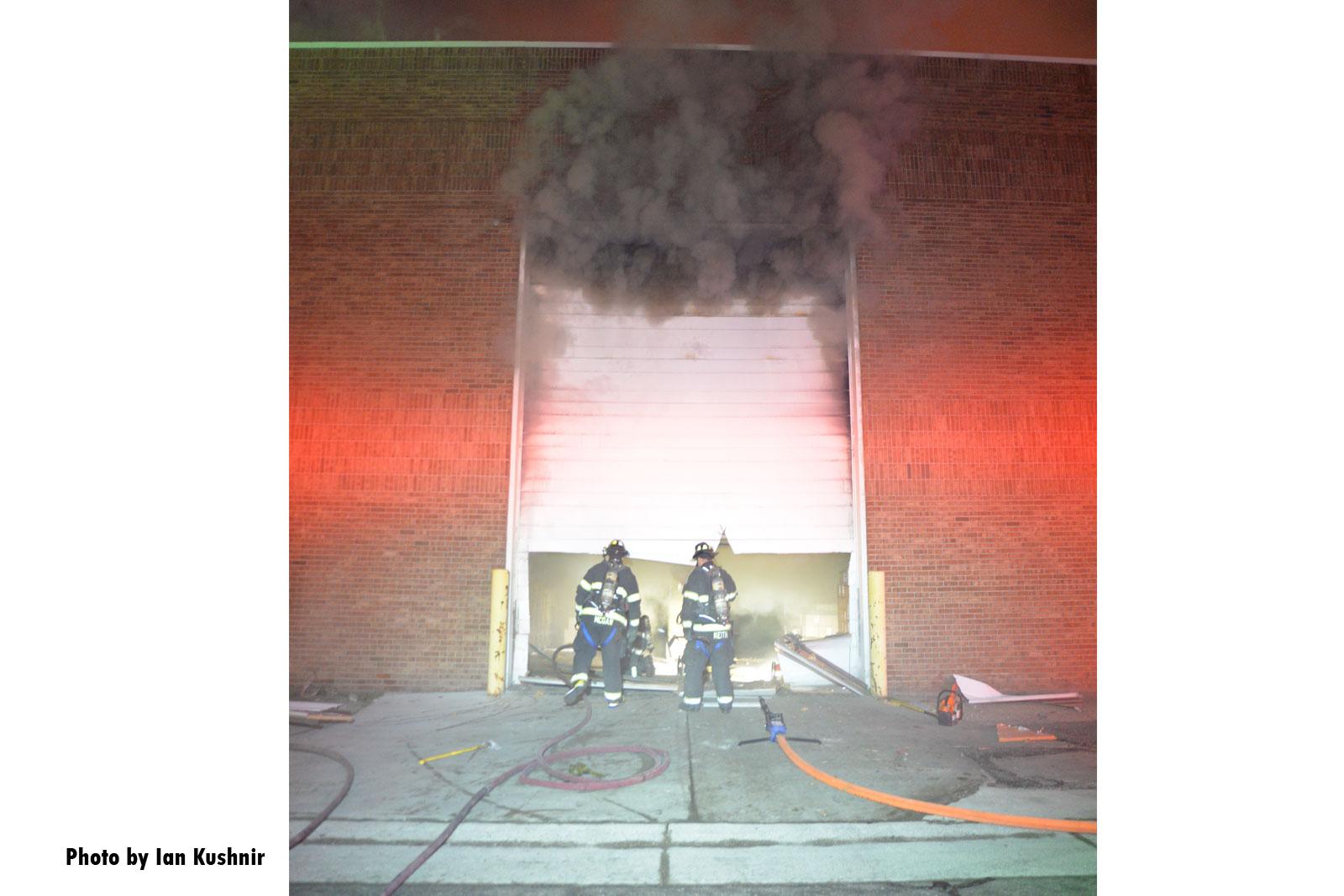 Smoke and rolldown door