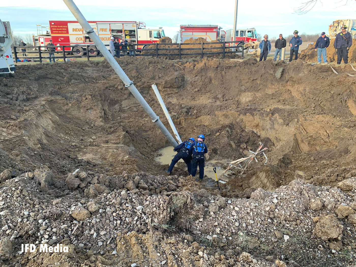 The victim was reportedly trying to dig a well on unstable ground.