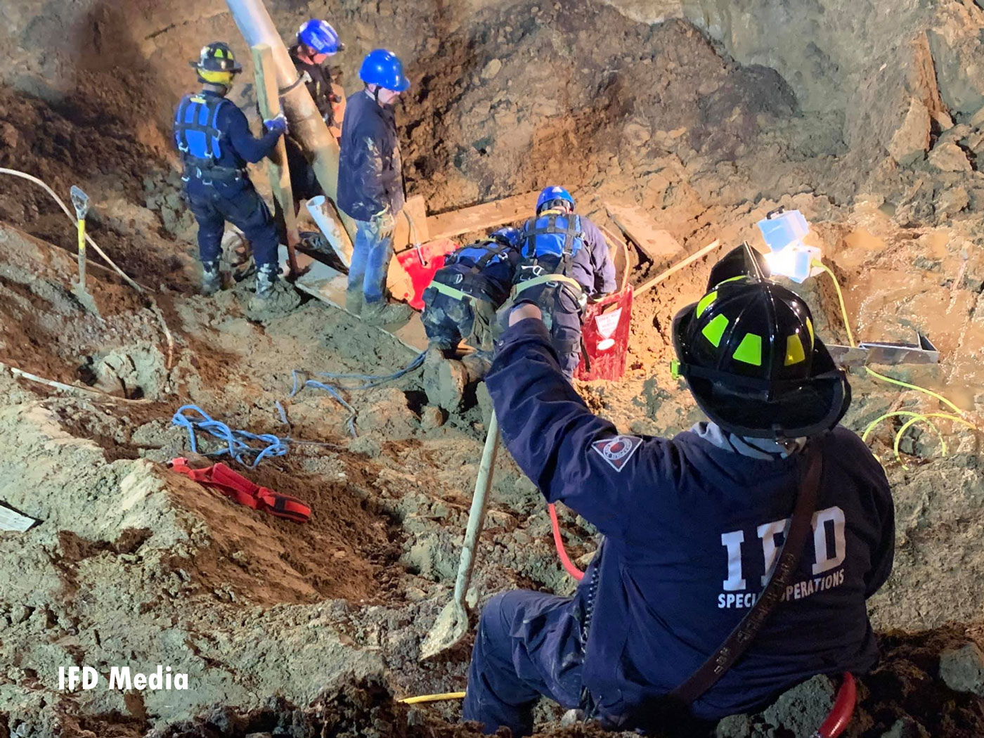 Once the heavy machinery work was completed, members could access the victim, who was deceased.