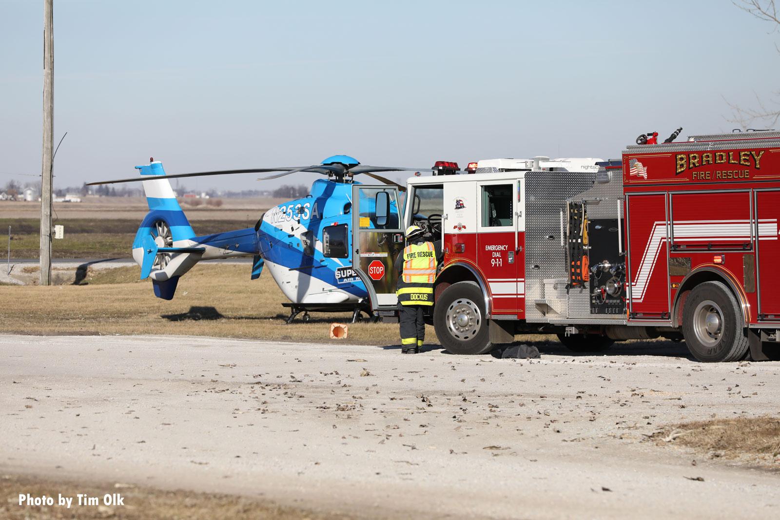 A chopper and fire apparatus