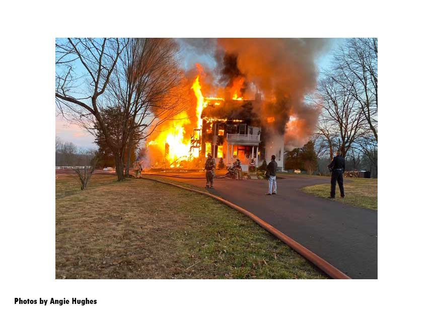 Massive flames at a house fire