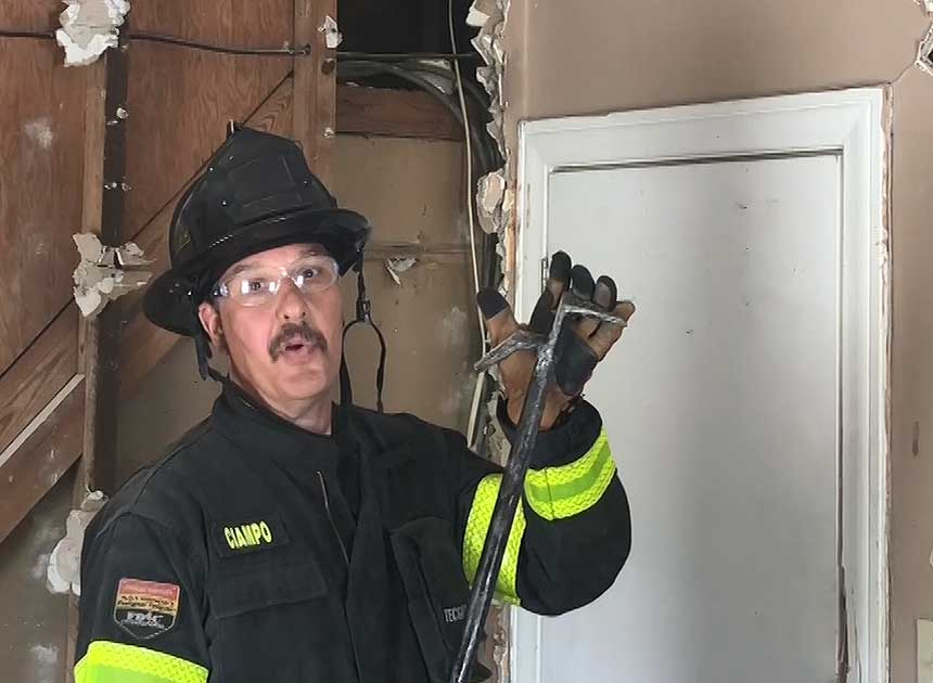 Mike Ciampo with roof hook