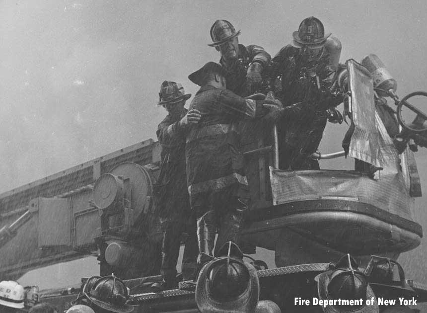 FDNY firefighters at NY Telephone Company Fire