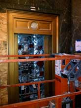 Elevator hoistway conceals void space