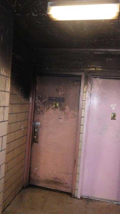 Hallway outside NYC fire