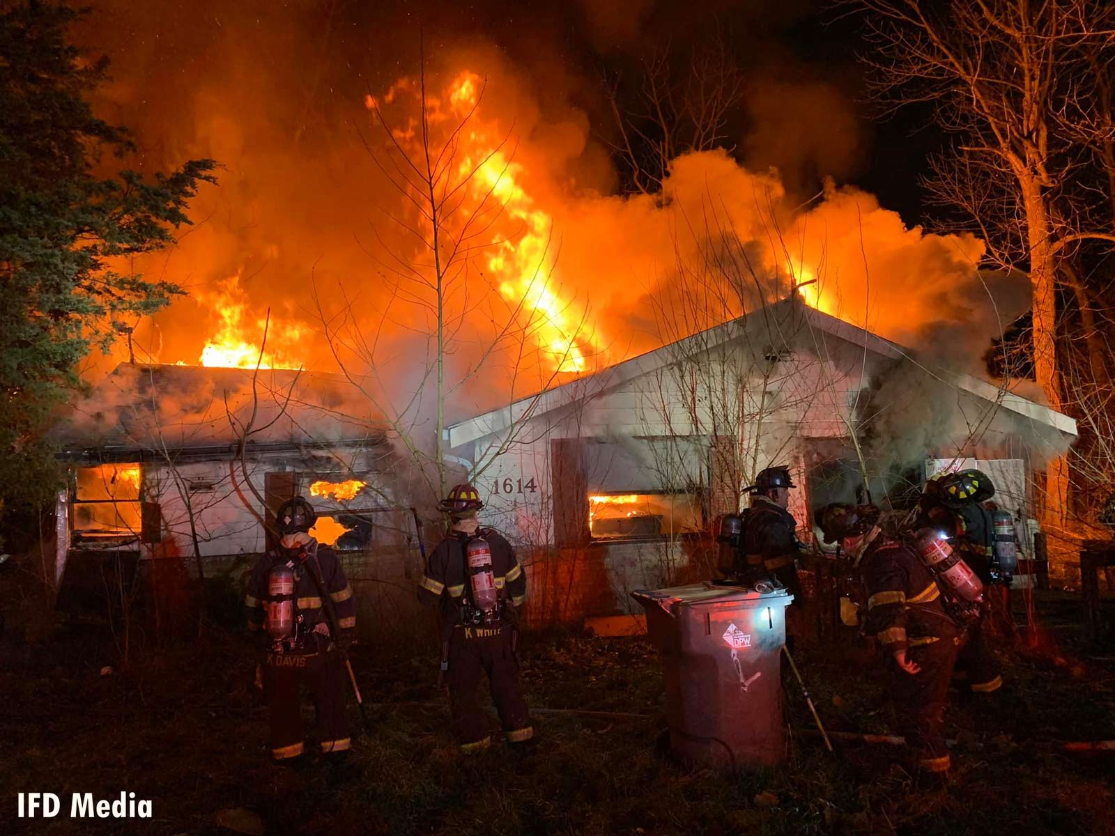 Indy fire crews work to control a residential fire