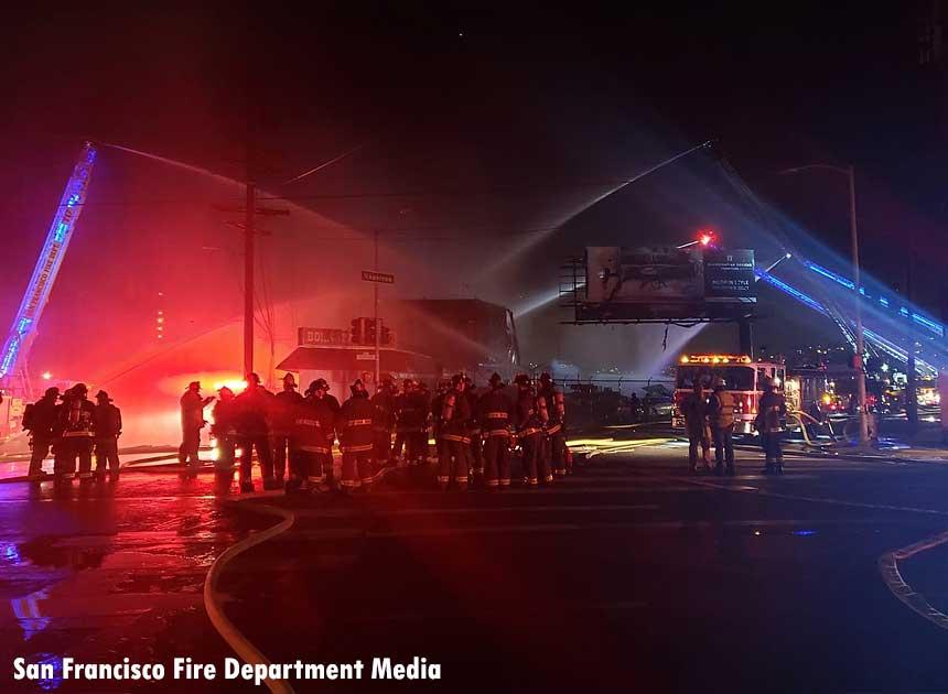 Fire at San Francisco warehouse