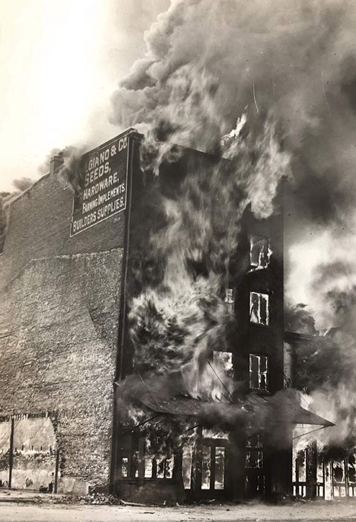 The 1928 Ingberg fire test in Washington, D.C.