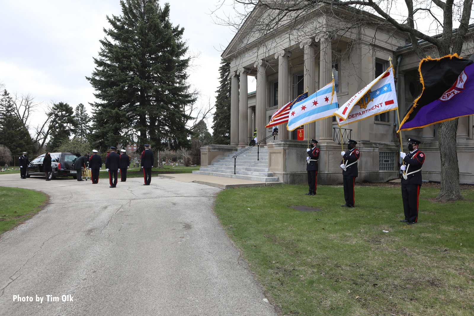 Firefighters at the funeral