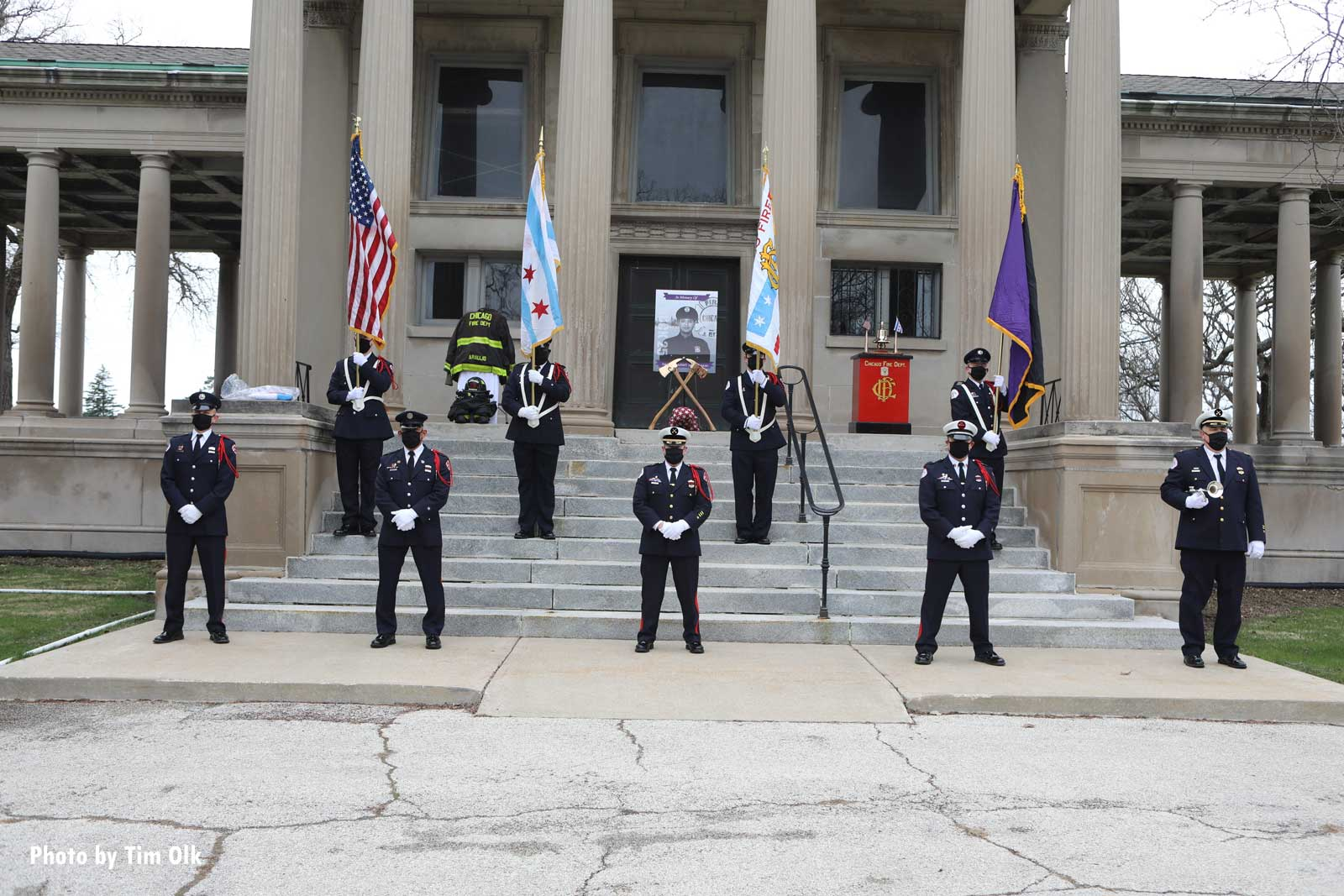Chicago firefighters at the funeral for the late Firefighter Araujo