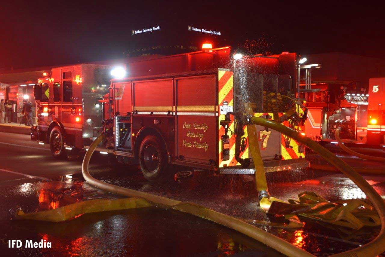 Indianapolis fire apparatus at apartment fire