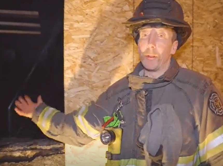 Noah Jenkins on fire attack props