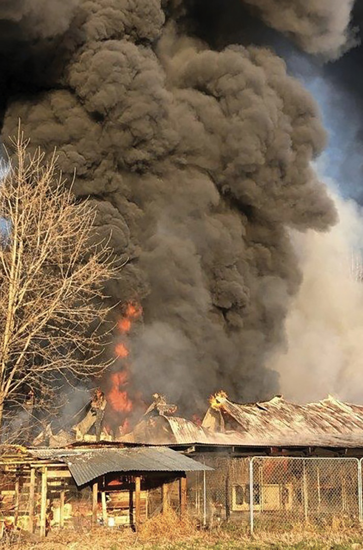 Fires involving agricultural buildings are challenging because of location, the types of materials stored, construction techniques, and lack of suppression systems.