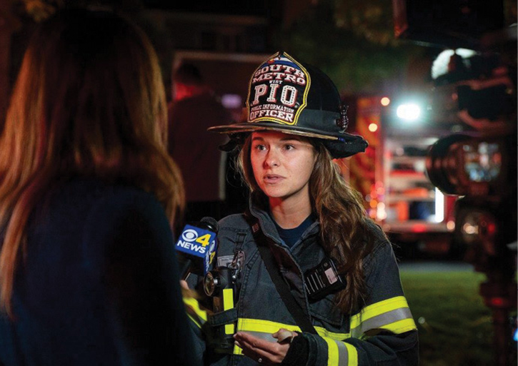 Connor provides a news interview at the scene of a fatal second-alarm apartment fire. Although social media allows PIOs to control the flow of information, we cannot neglect the vital relationship we have with journalists. This, too, will be in the vlog.