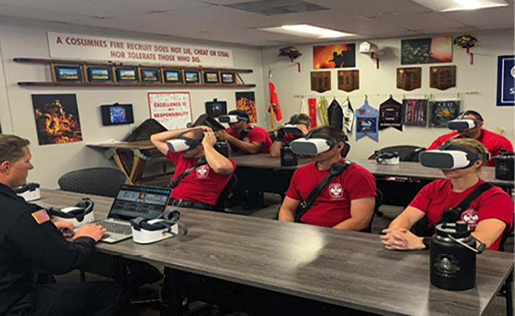 The virtual reality group was immersed in four fires. All four of the fires were taken into flashover through different means.