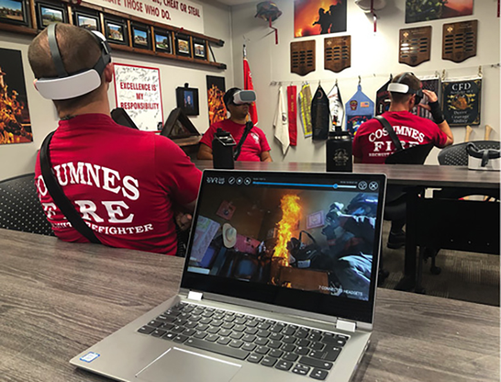 """The recruits were shown the same fires as before, but the concentration was on fire dynamics. They were able to watch subtle things that happen in a fire that are often missed in real-time """"actual"""" reality. They were able to see this over and over from the learning environment of a classroom vs. being caught in full-room involvement."""