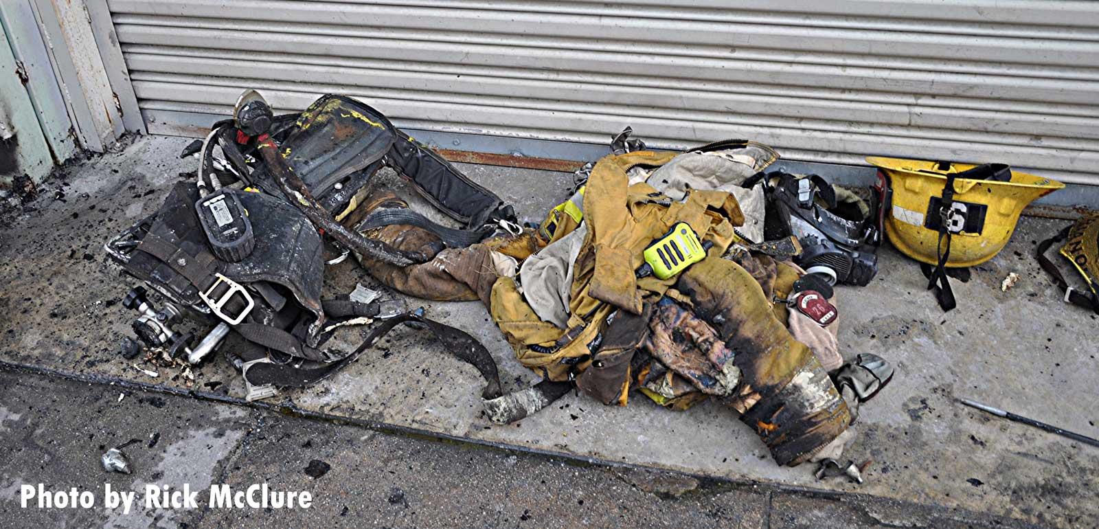 Damaged fire gear