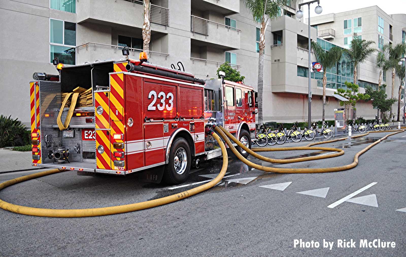 LAFD fire truck
