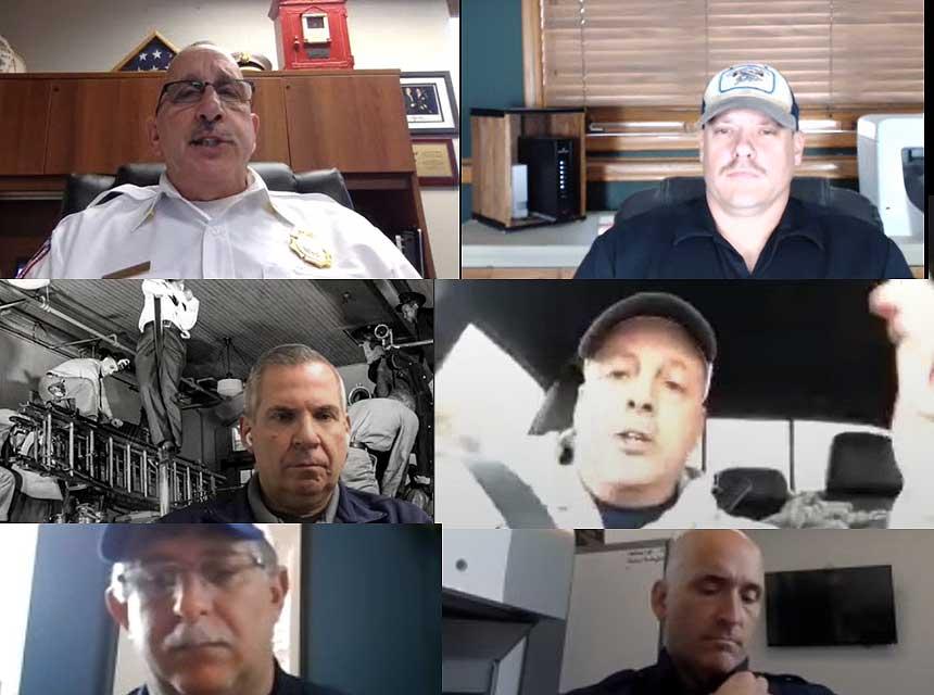 Lawrence Schultz, Sam Hittle, Ricky Riley, Tony Carroll, Aaron Heller, and Dan Shaw