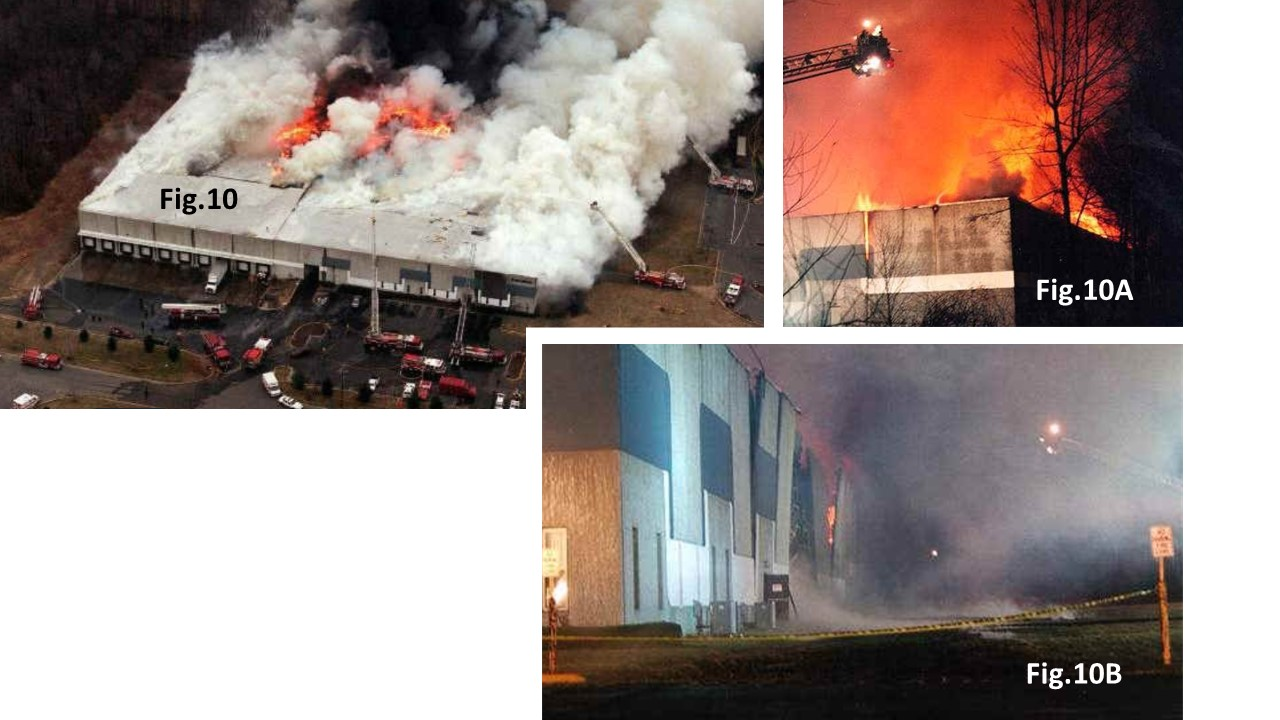 Tilt-up building warehouse fire in New Jersey