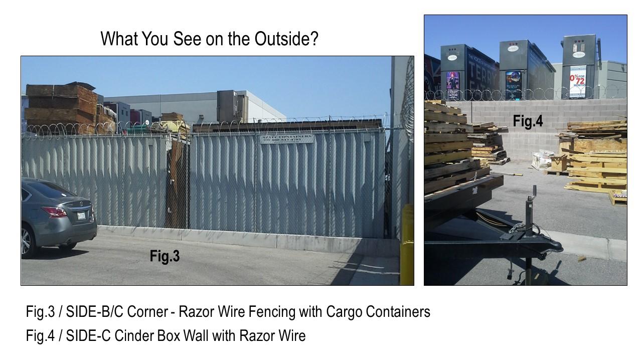 Tilt-up construction: Razor wire fencing