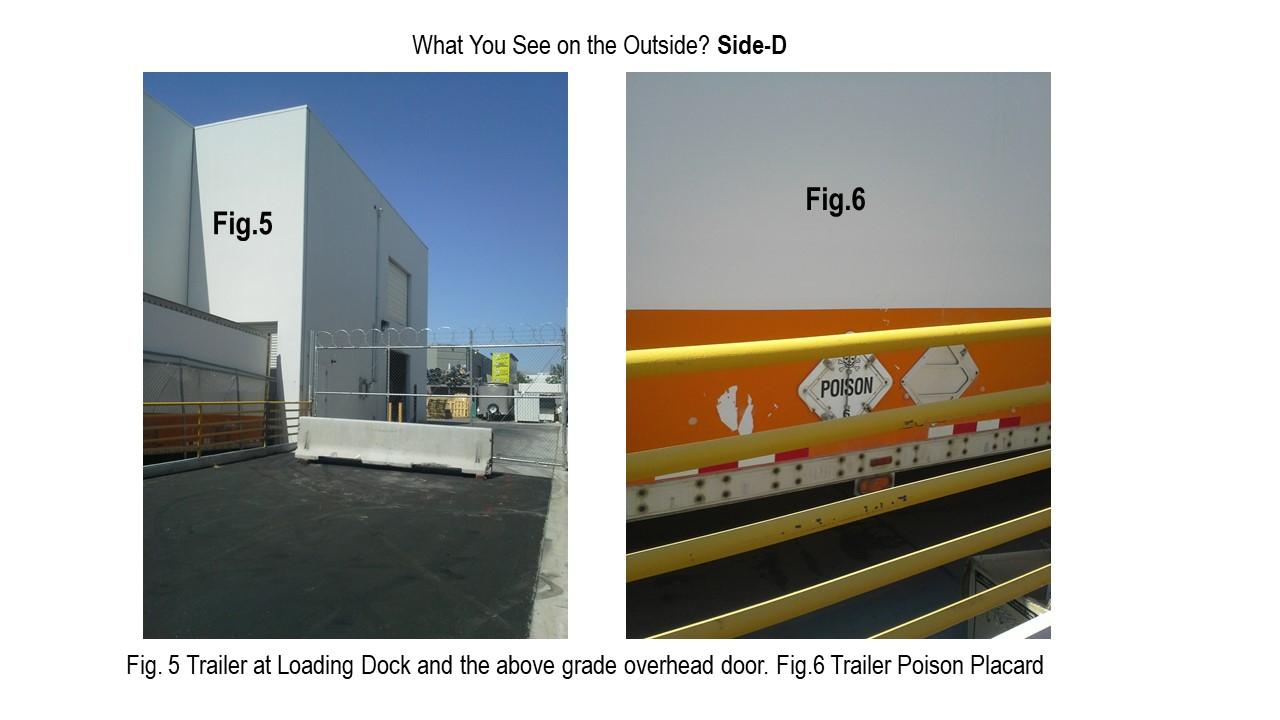 Trailer loading dock and hazmat placard