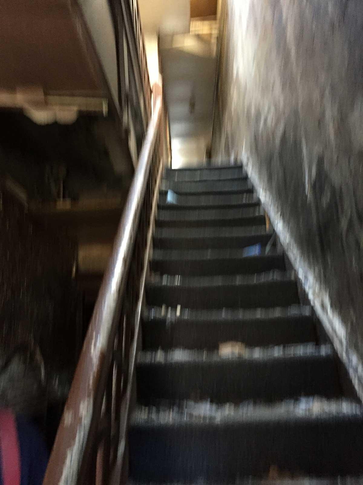 Open basement door