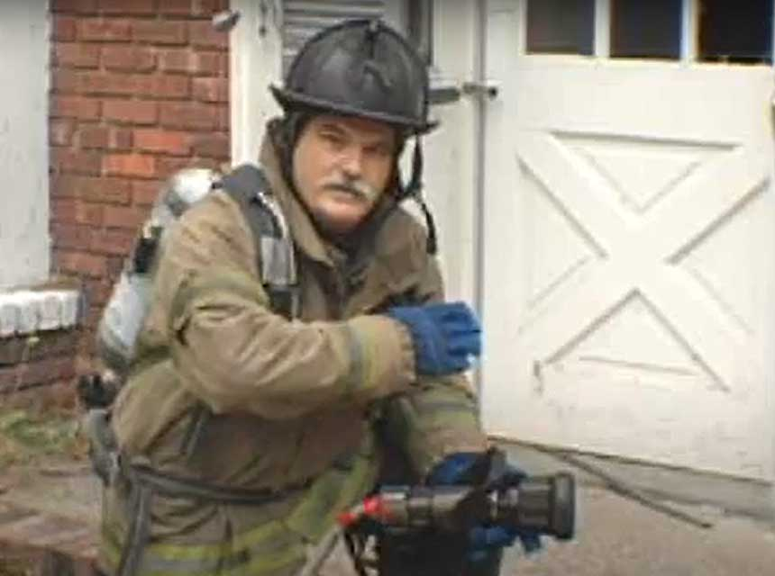 Ray McCormack with a nozzle