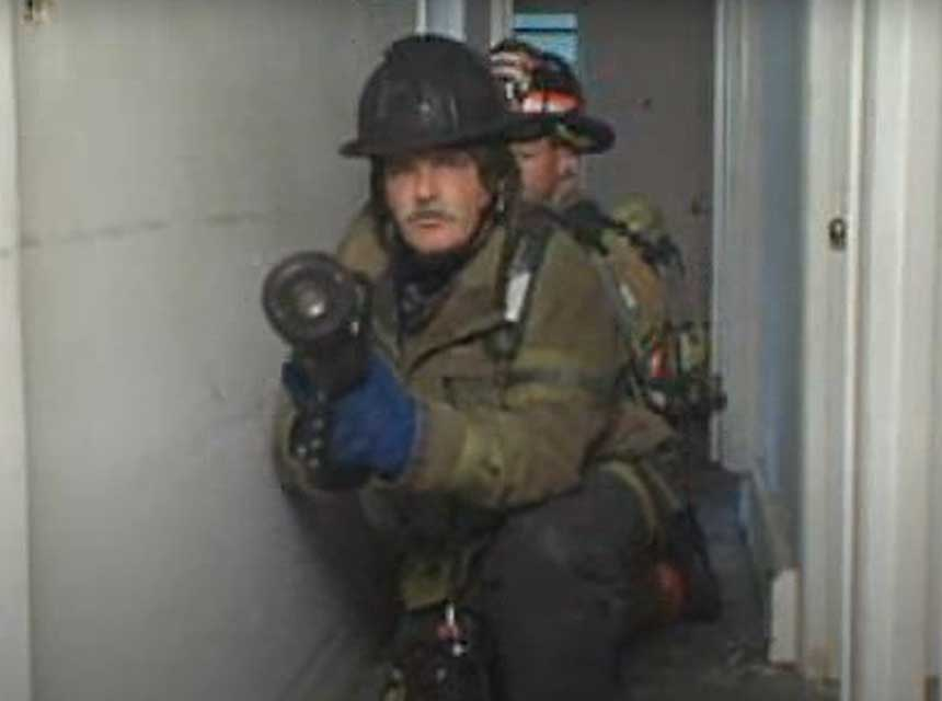 Ray McCormack on sweeping debris with a hose stream