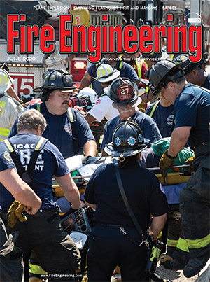 Firefighters at scene of building collapse