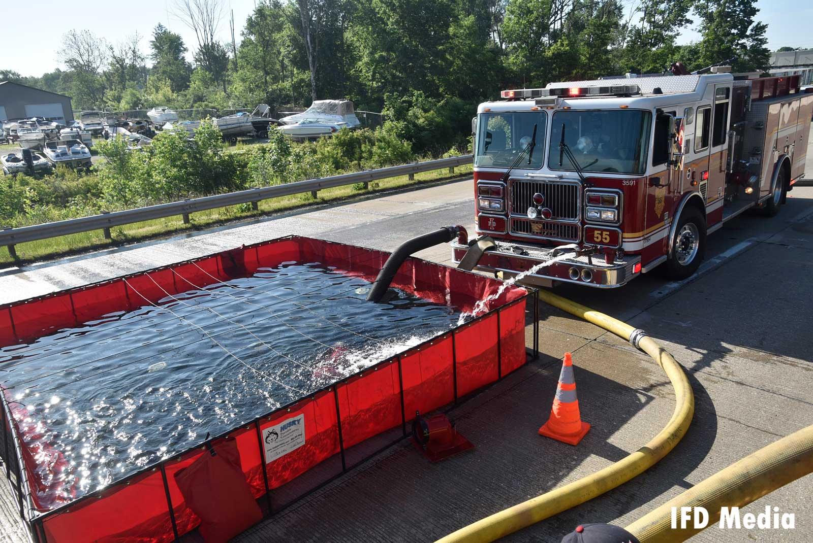 Water tanker shuttle opreation