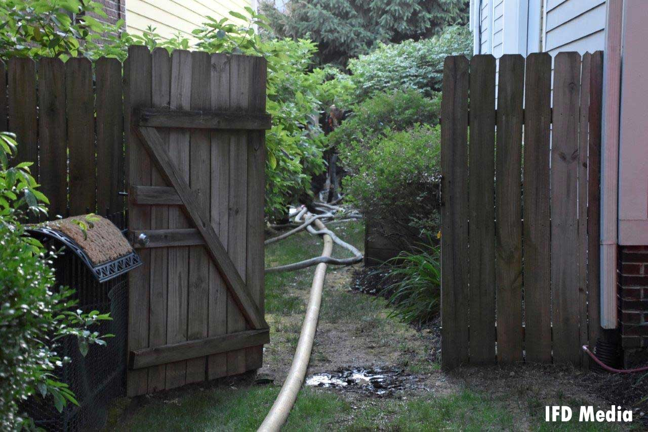 Hose stretch in between homes
