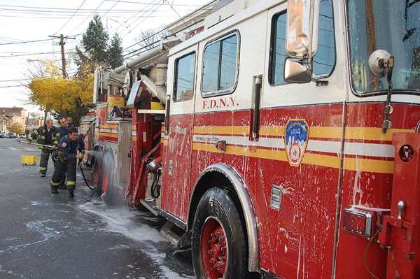 Cleaning an FDNY rig