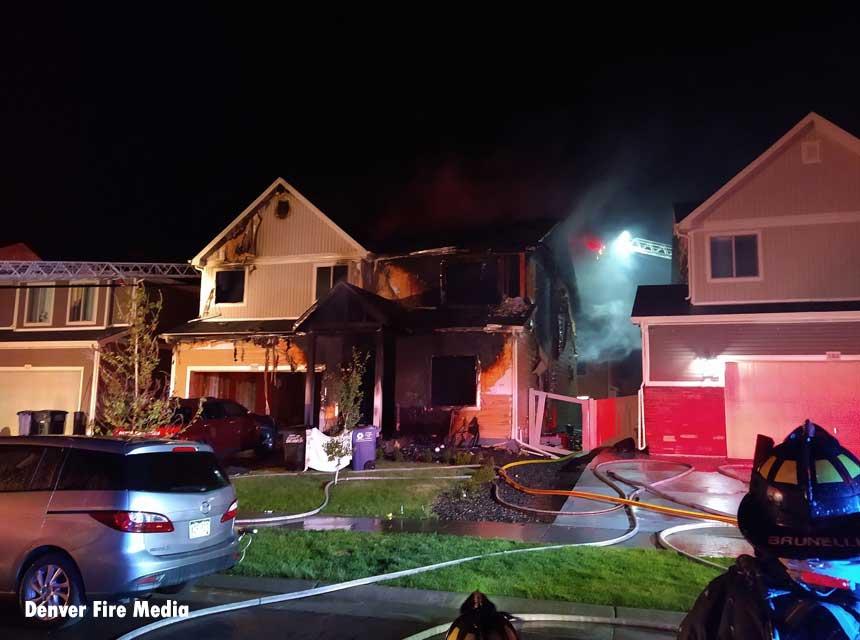 Scene of a fatal house fire in Denver