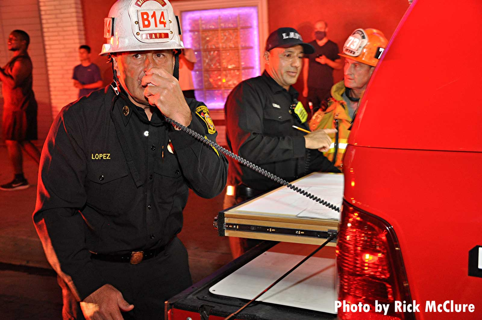 Command on scene at LAFD fire