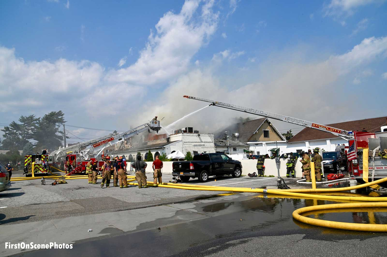 Fire raged through multiple businesses