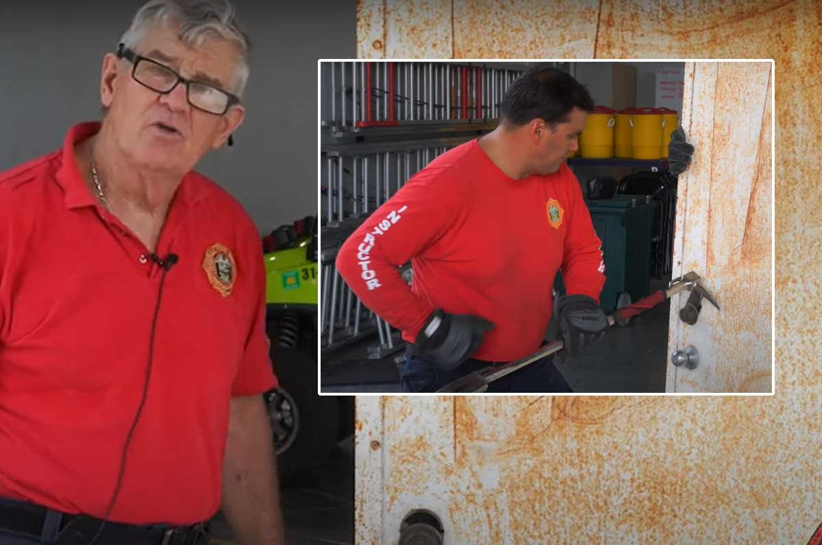Bill Gustin and Juan Miguel on forcible entry